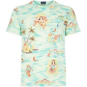 Polo Ralph Lauren Hawaiian Pocket Tee Shirt Medium